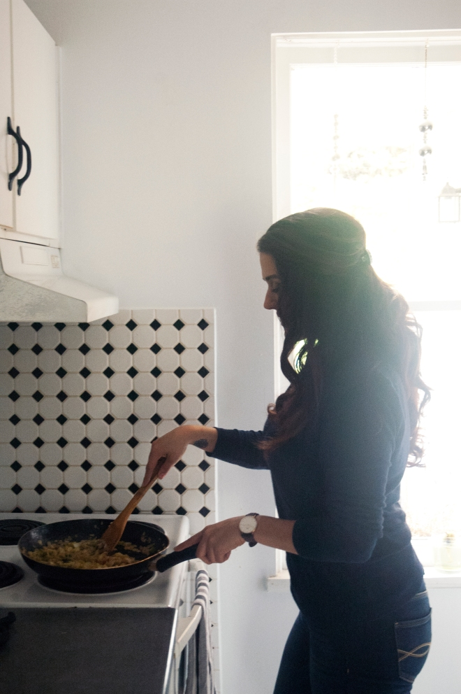 gabrielle burke cooking in her vancouver studio