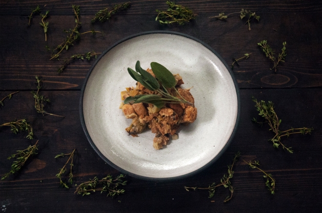 apple sage stuffing and thyme